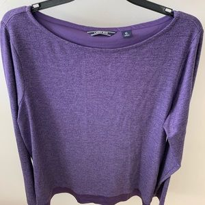 Lands End Women's Top Purple Sz XL/18